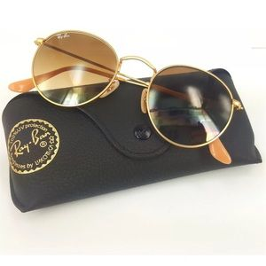 07a89ea0d7 Ray-Ban Accessories - Ray-Ban round metal gold frame brown gradient lens